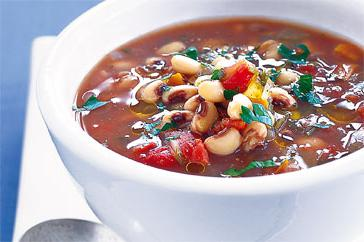 How to cook Black-eye bean & vegetable soup