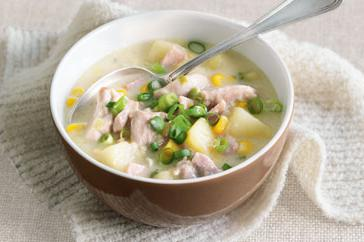 How to cook Chicken, corn & bacon chowder
