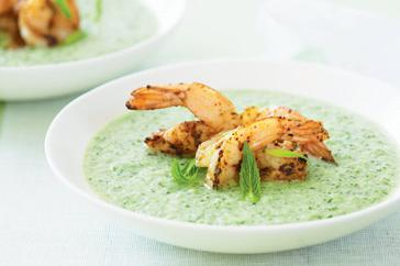 How to cook Chilled cucumber soup with Cajun prawns