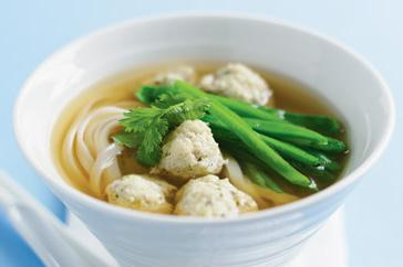 How to cook Coriander fish ball noodle soup