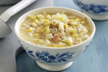 How to cook Corn and bacon chowder