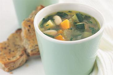 How to cook Herbed vegetable & white bean soup with garlic toasts