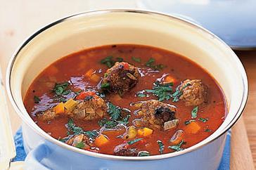 How to cook Minestrone with meatballs