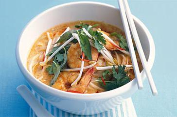 How to cook Prawn laksa lemak