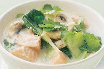 How to cook Salmon & coconut cream noodle soup