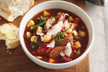 How to cook Sausage minestrone with broccolini & celeriac