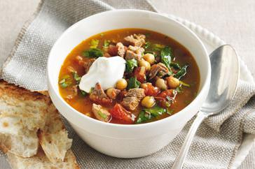 How to cook Spicy lamb, tomato & chickpea broth