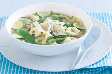 How to cook Spring vegetable brodo with veal tortellini