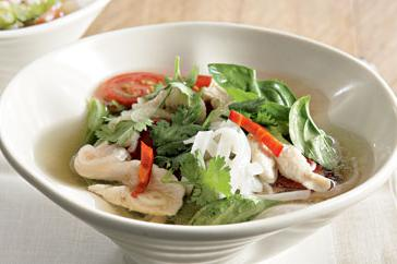 How to cook Thai chicken & noodle broth